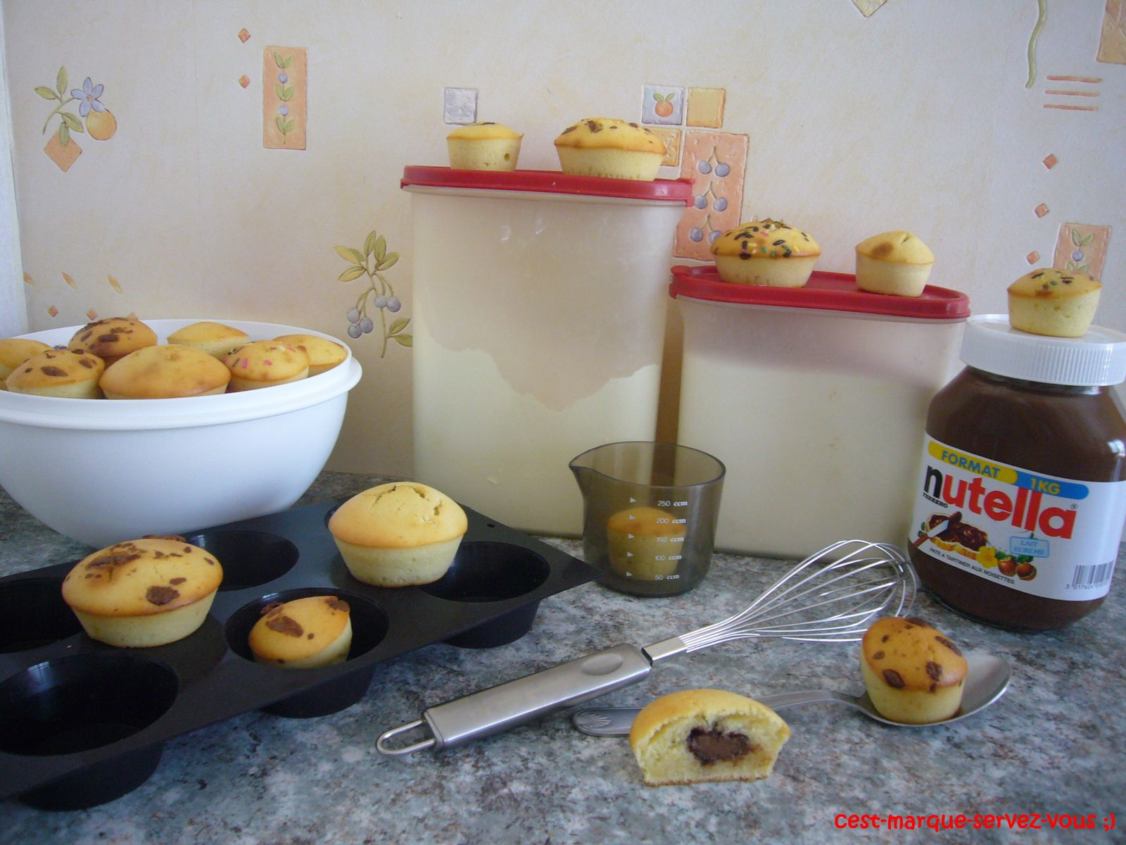 L'incontournable Muffin au Nutella.
