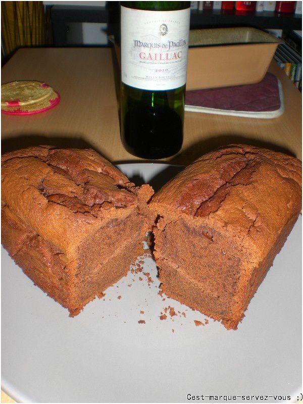 Gateau au chocolat et au vin rouge