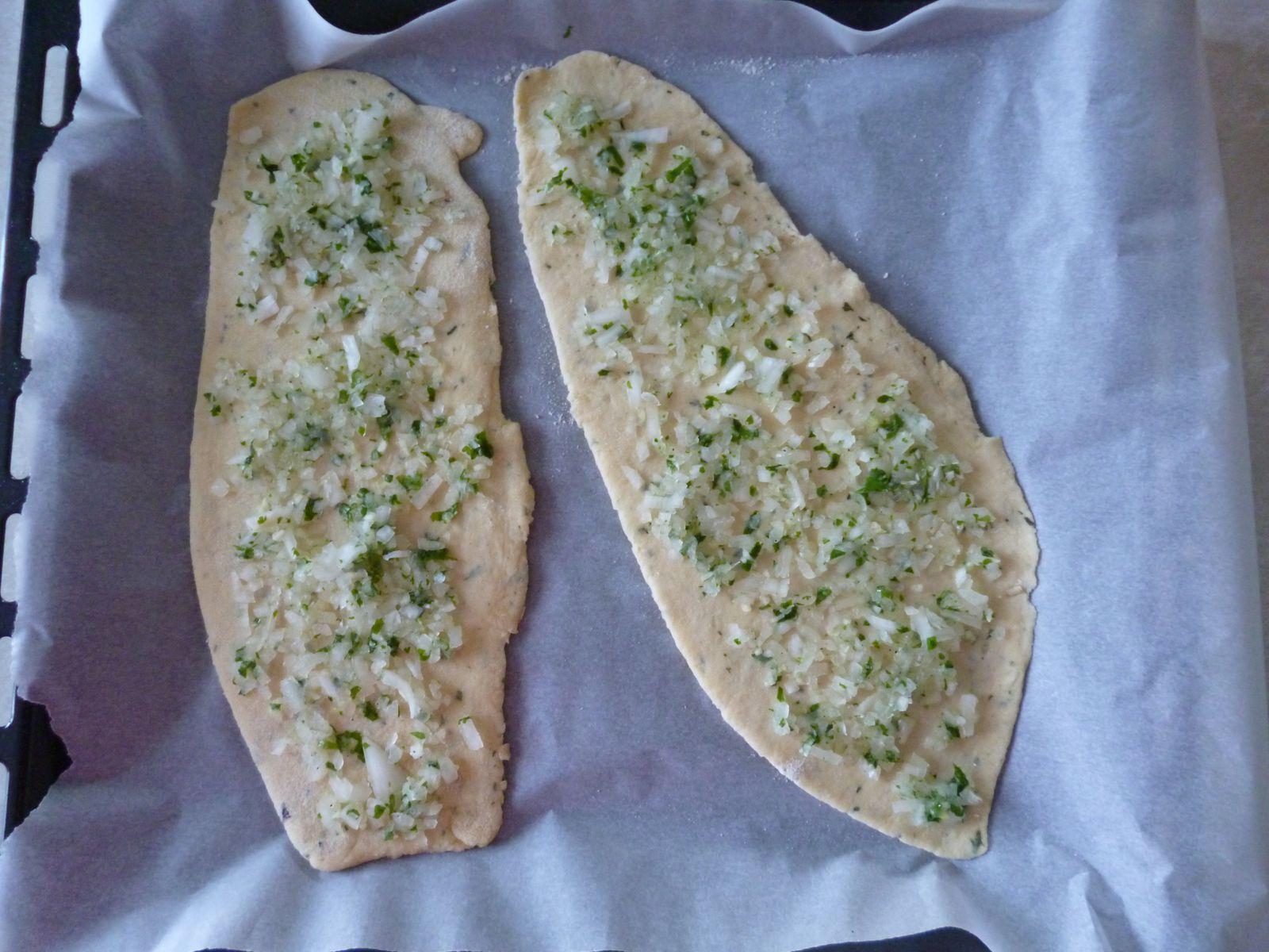 Les pains avant cuisson