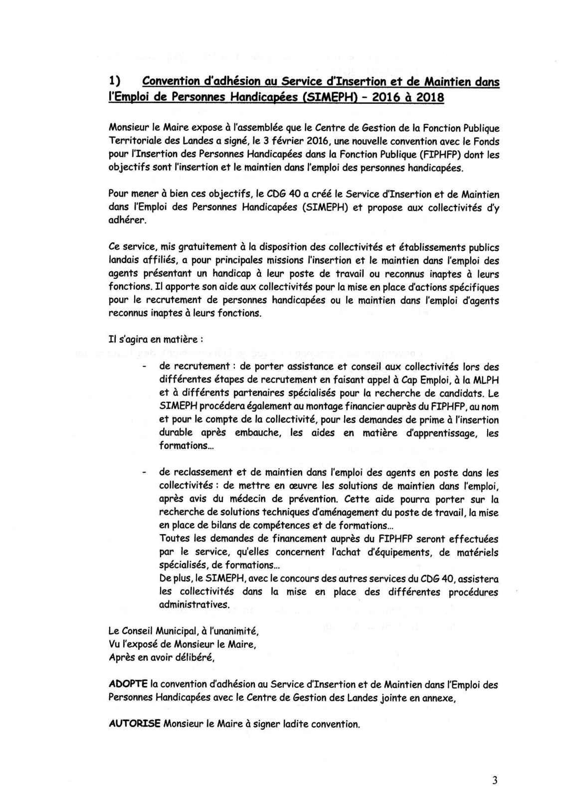 P.V. CONSEIL MUNICIPAL DU 7 SEPTEMBRE 2016