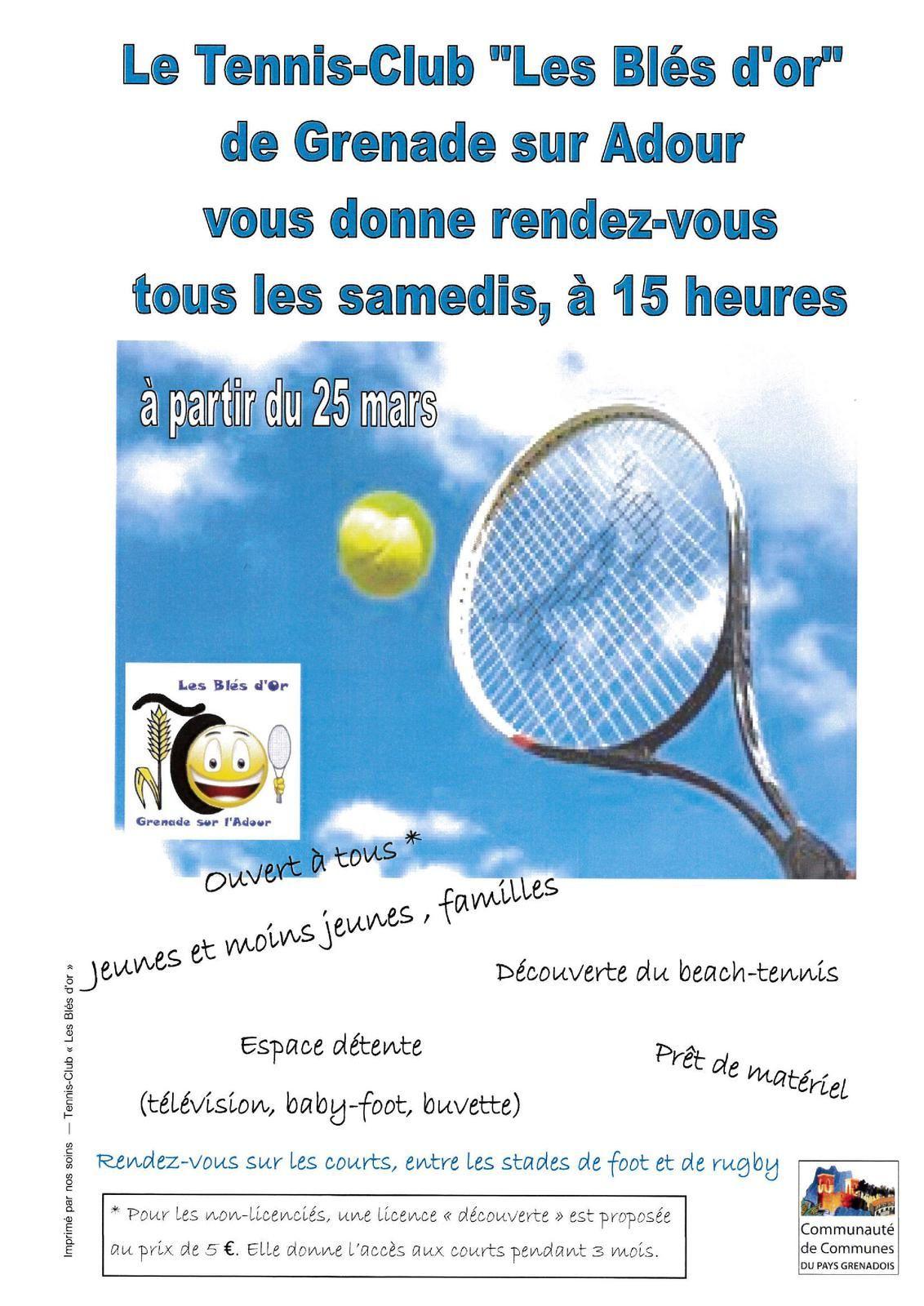 Tennis-Club Les Blés d'Or - Les rendez-vous du samedi
