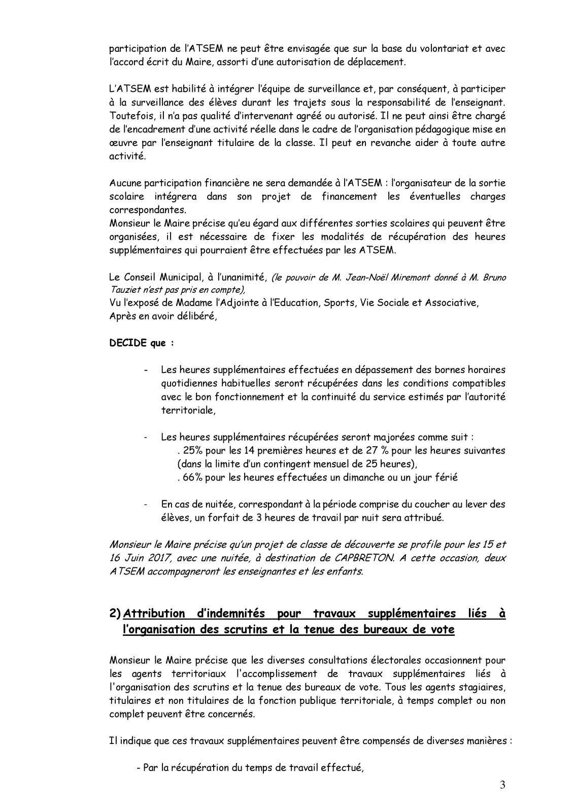 PV de la séance du Conseil Municipal du 26 avril 2017
