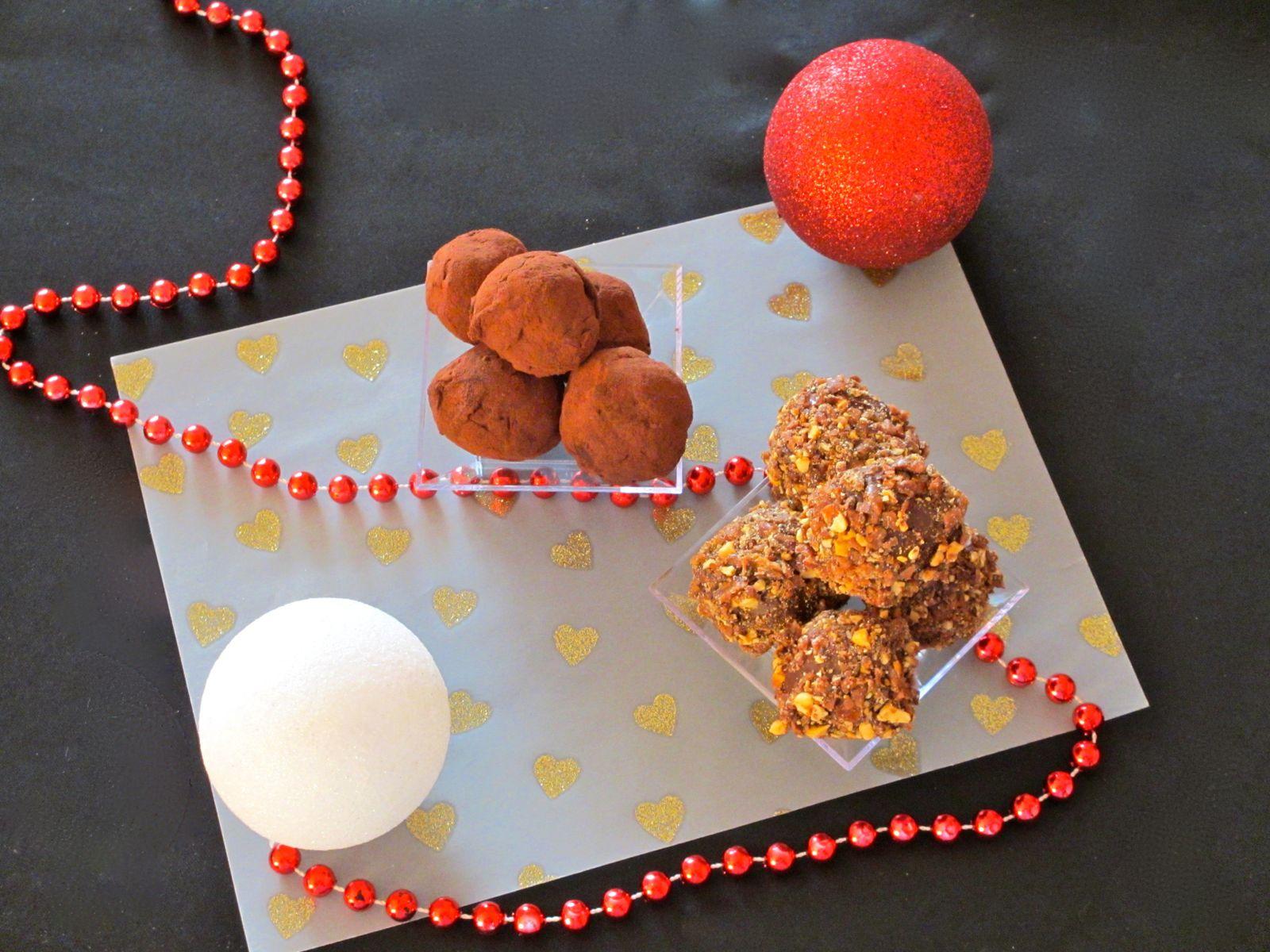 Truffes chocolat - praslines - yuzu