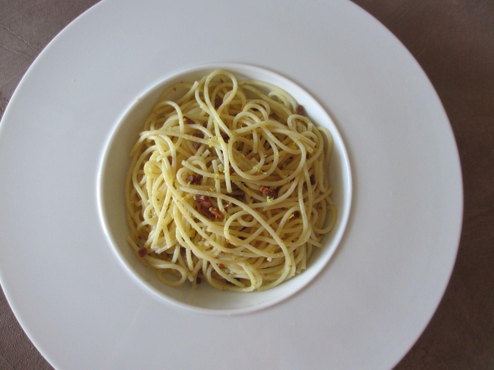 Spaghetti à la boutargue ou poutargue