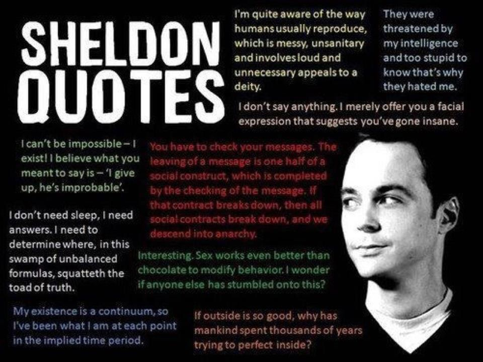 My daughter loves Sheldon Quotes... #CantStopSmiling