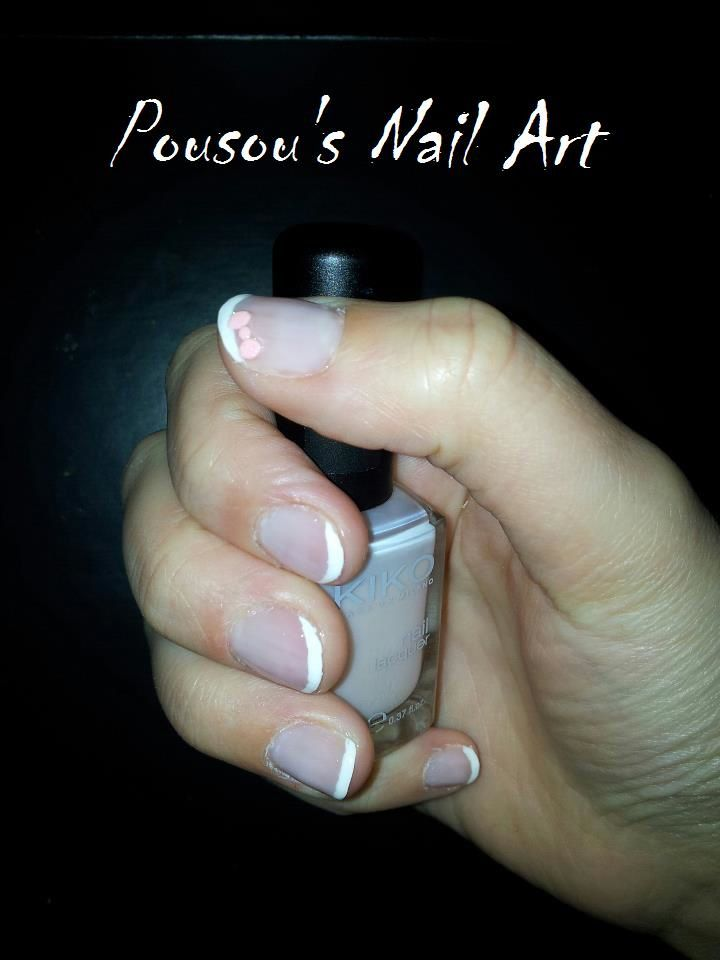 French manucure sur ongles courts