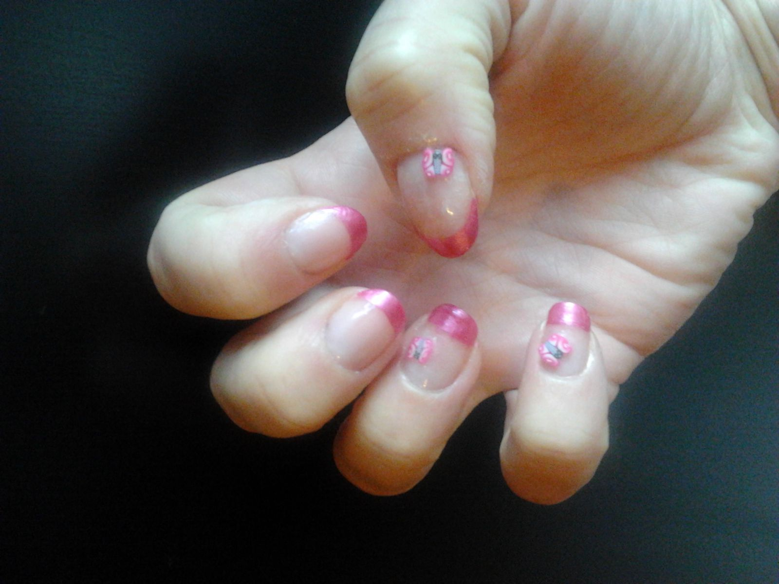 French rose et fimo