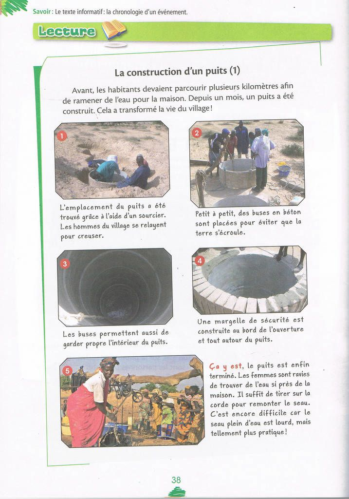 étapes de la construction d'un puits à Afrika Ranch