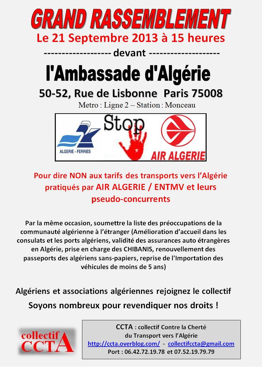 Grande mobilisation contre la cherté des transports entre l'Algérie et la France