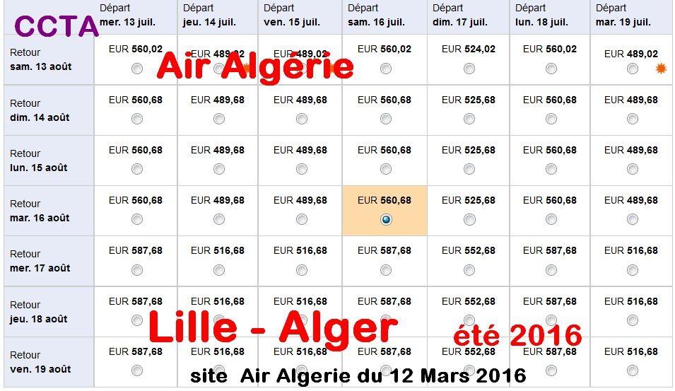 Les algériens du nord de la France: les grosses vaches à lait  d'Air Algérie !