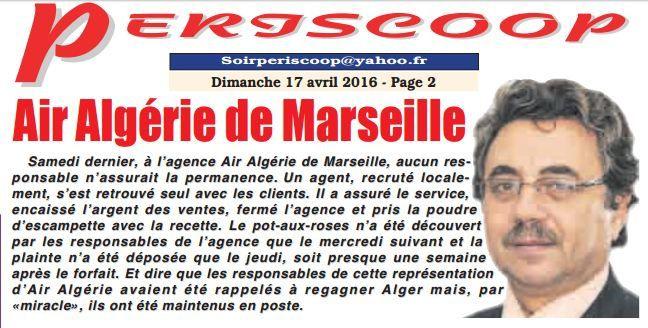 Air Algérie et les scandales continuent !!!