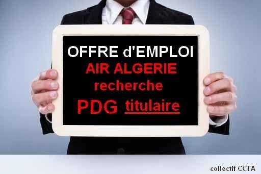 Air Algérie recherche PDG titulaire !