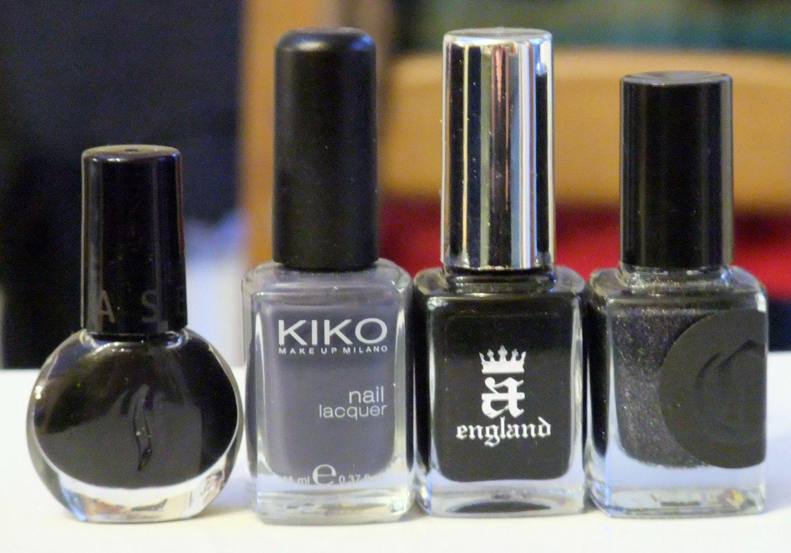 Séphora noir, Kiko 381, A England Camelot et Cirque Dark Horse