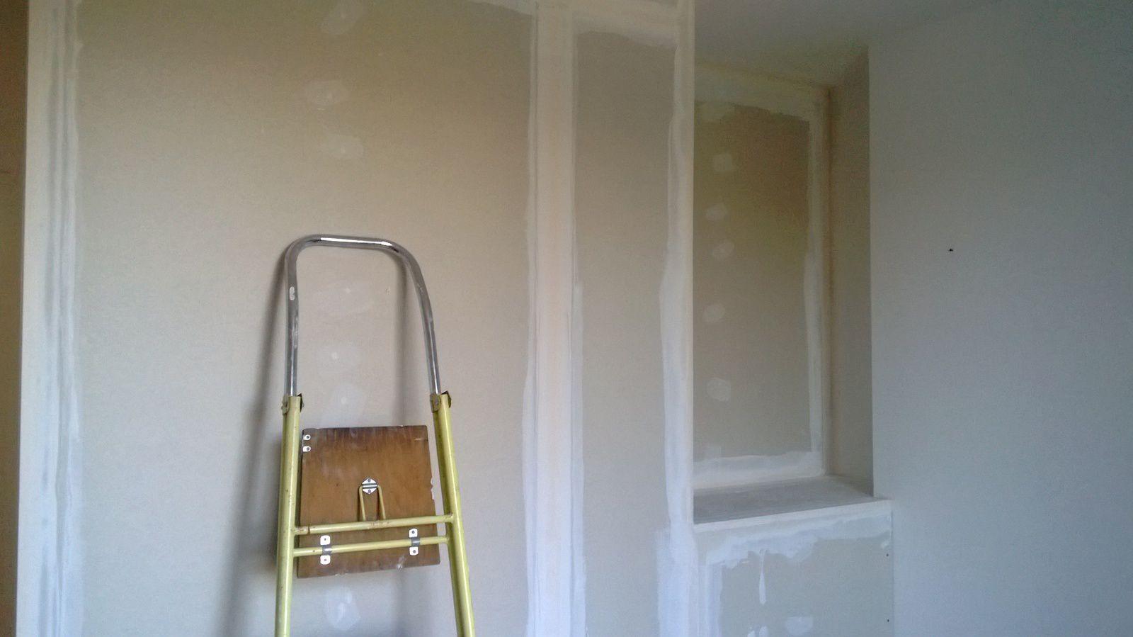 Relance des travaux pour la cr ation d 39 une chambre d for Epaisseur laine de verre pour cloison placo