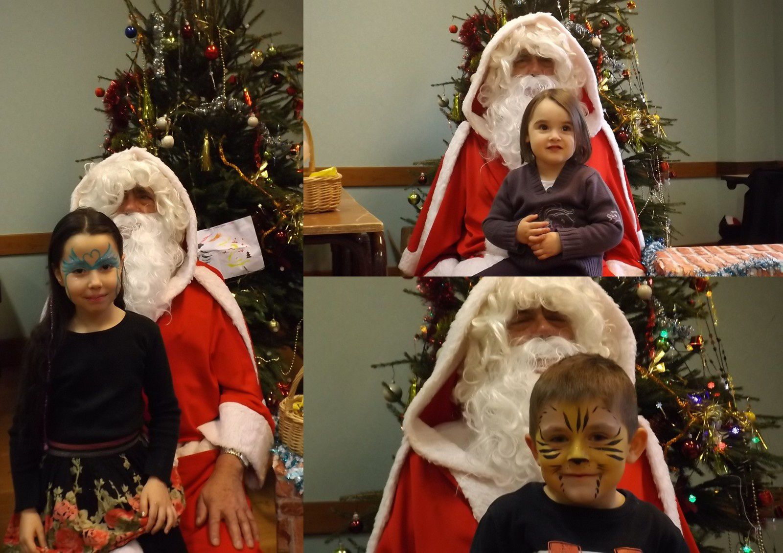 Merci au Père Noël d'avoir passé la journée avec nous.