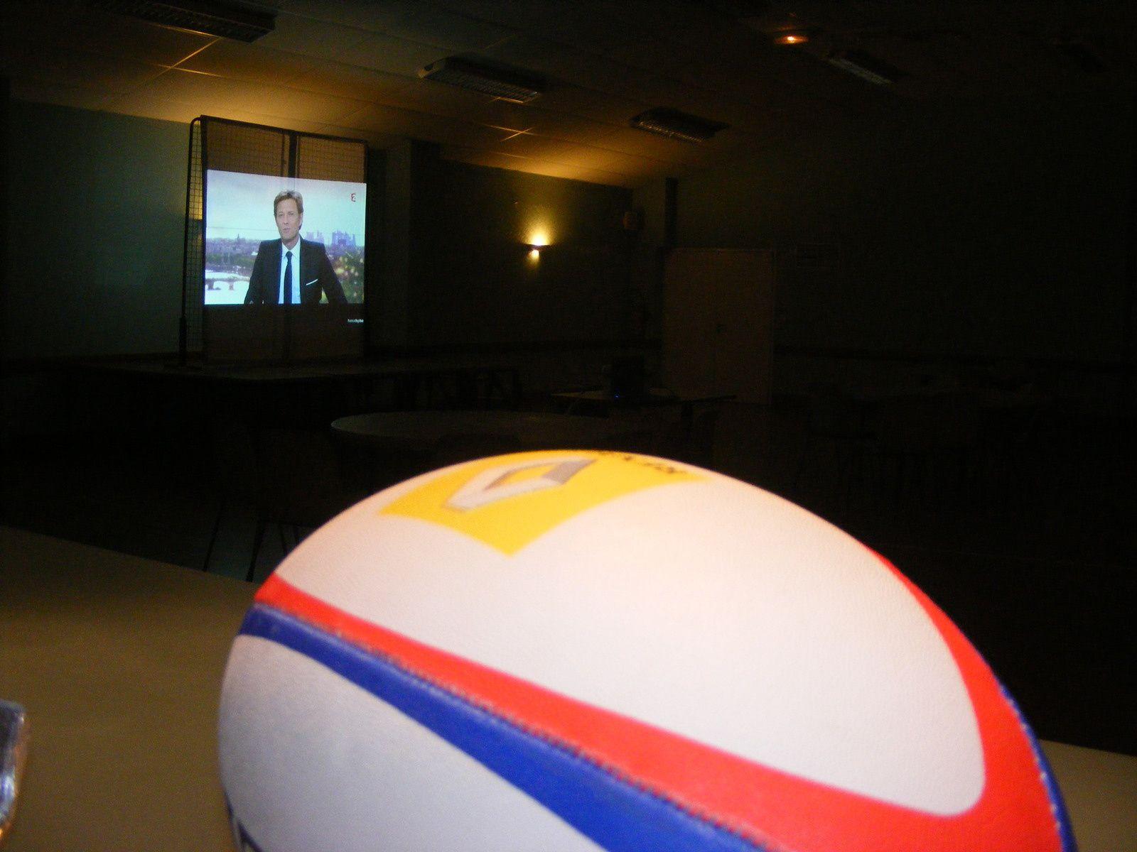 Photos retransmission match de rugby Galles - France