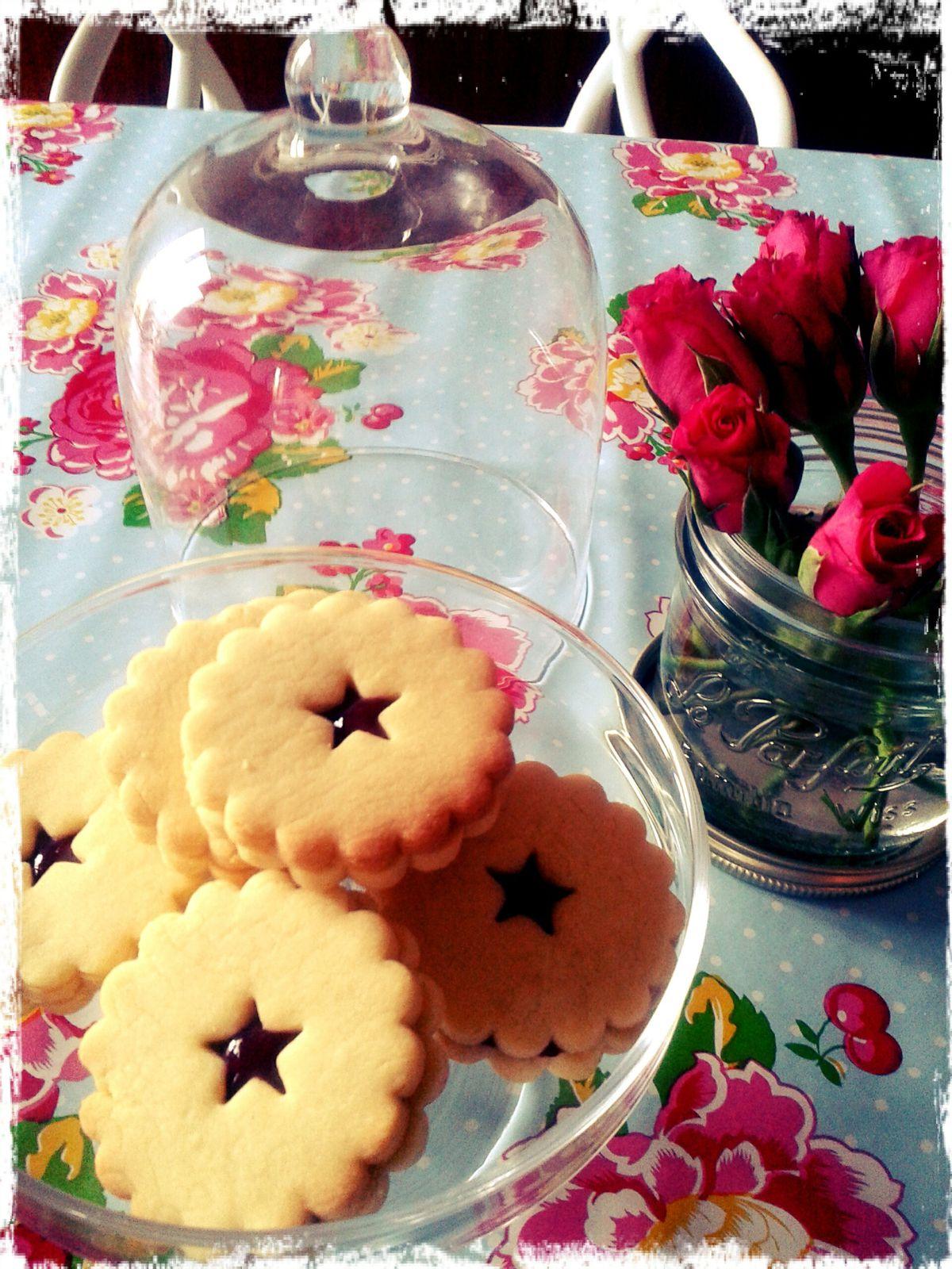 Recette de biscuits étoiles confiture ou Nutella...