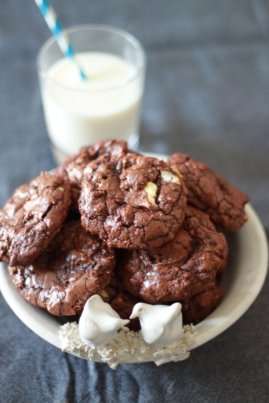 Brownie-cookies avec Kinder...à la place des pépites de chocolat