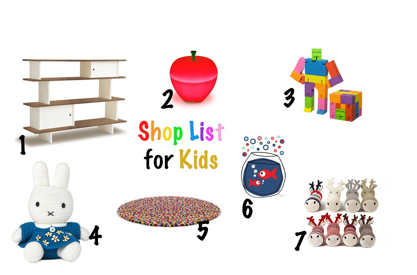 Shop list for Kids...les enfants ont le droit au design...^^