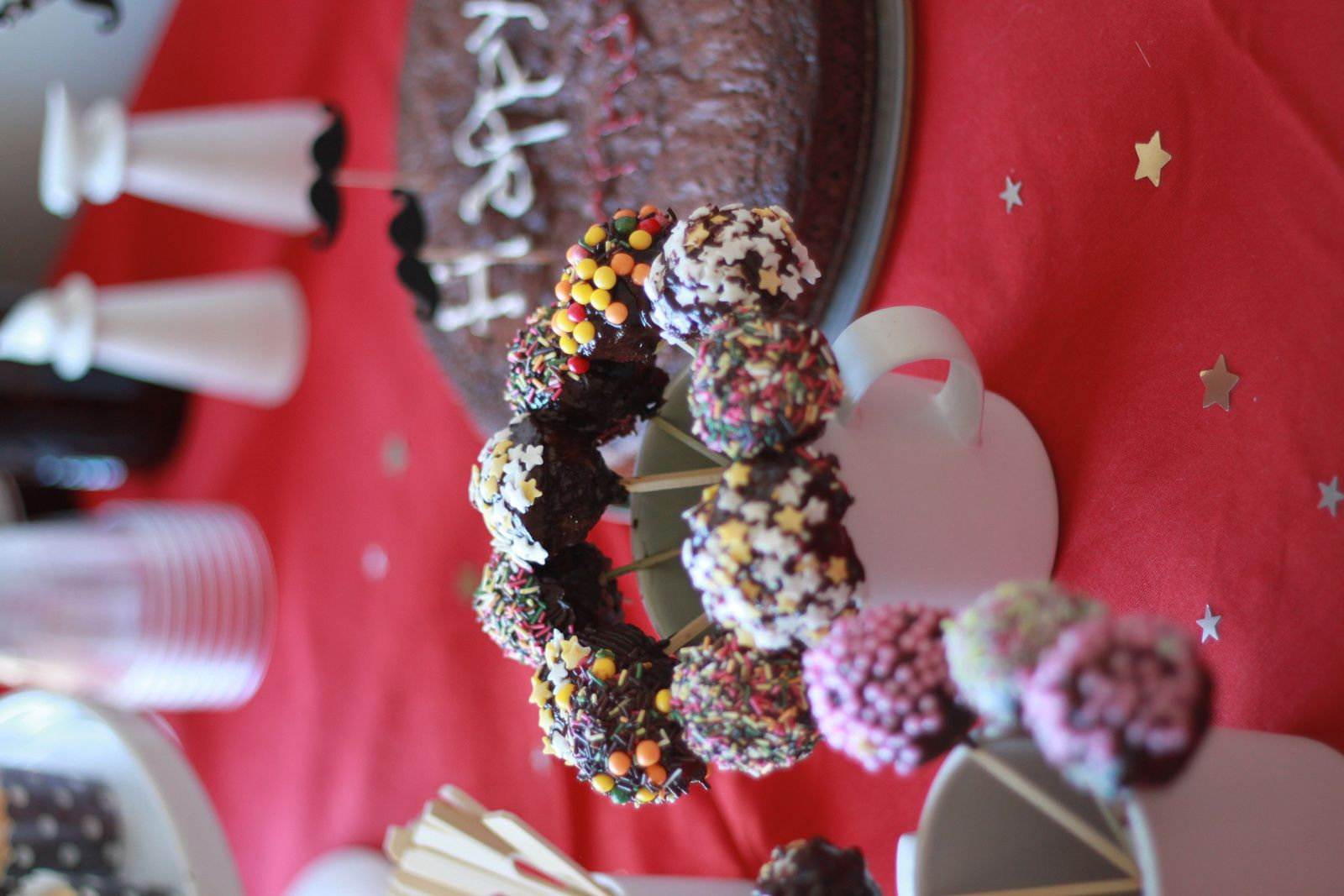 Joli bouquet de pop cakes!