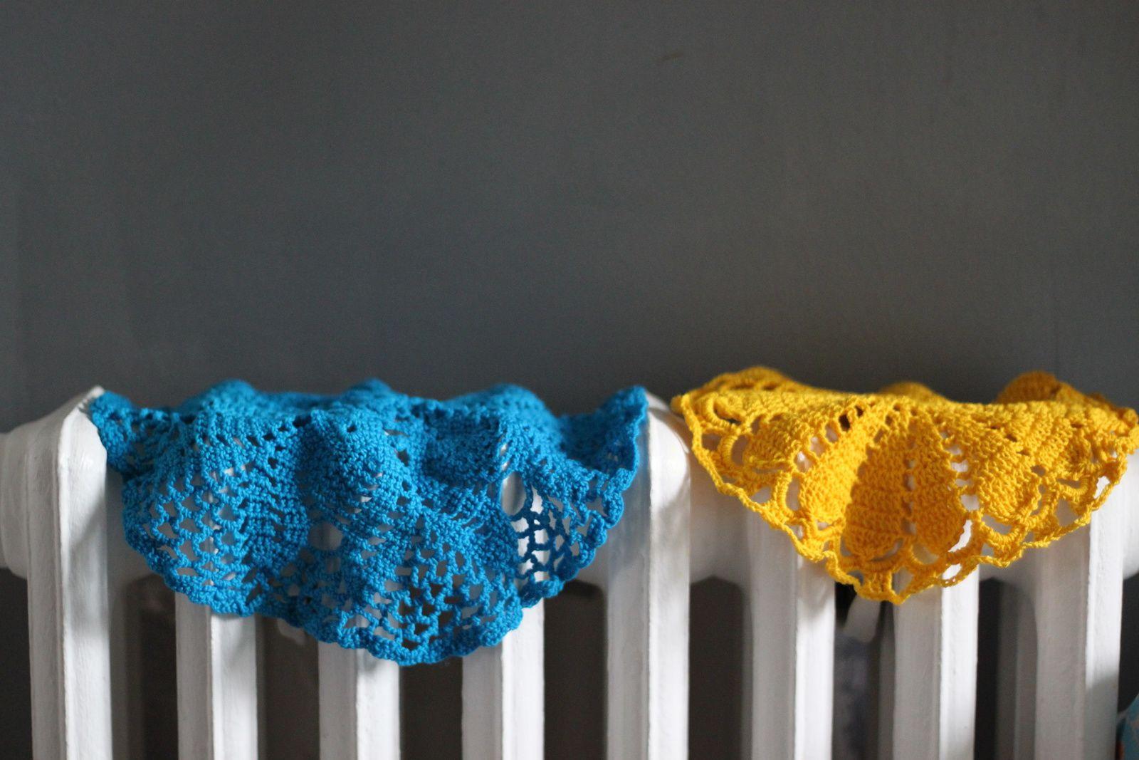 Teindre les napperons...teinture naturelle ou industrielle..