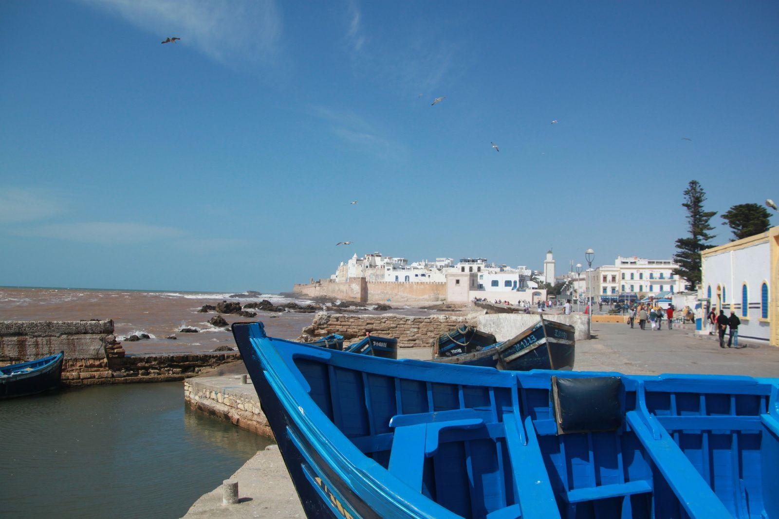 Essaouira, et le bleu des bâteaux