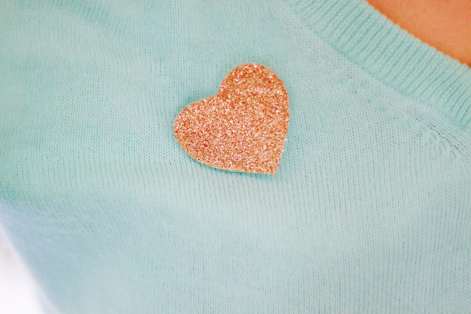 Bague et coeur glitter
