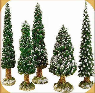 Snowy Evergreen Trees Large    52614    1995-2001