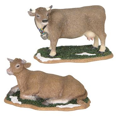 600300 Cow standing and cow lying set of 2