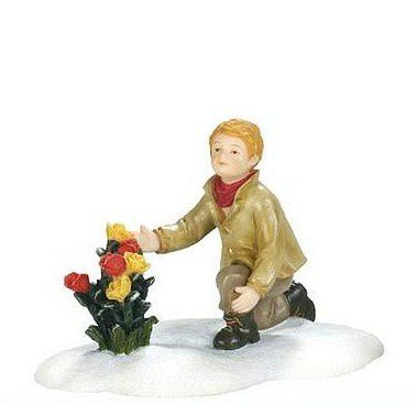 600595 Boy with flowers