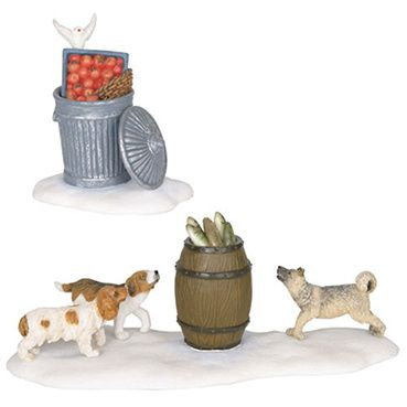 600096 Dogs smell fish leftovers set of 2