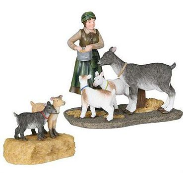602588 Marie with goat set of 2