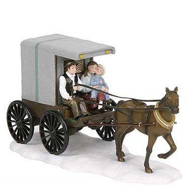 600658 Horsecarriage with family