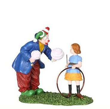 602539 Clown with little girl