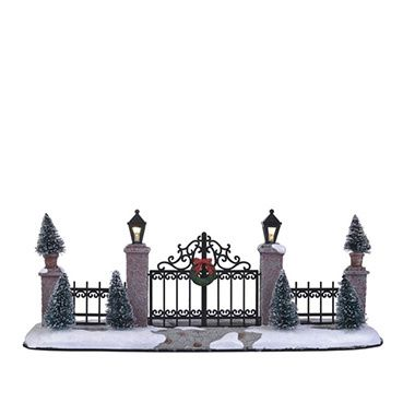 611192 Lighted Gate & Fence (B.O.)