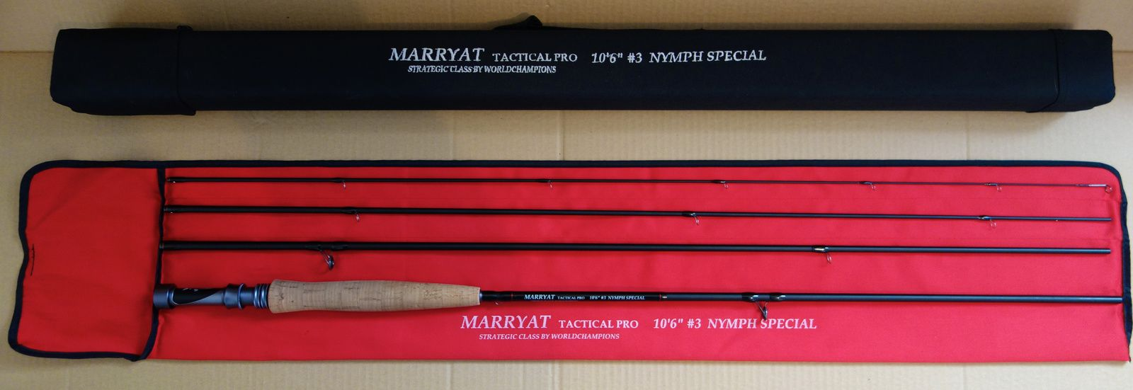 Marryat tactical pro 10'6 soie 3 nymph special