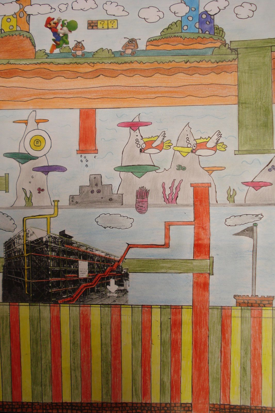 5ème &quot&#x3B;Le Centre Pompidou a envahi ma feuille!&quot&#x3B;