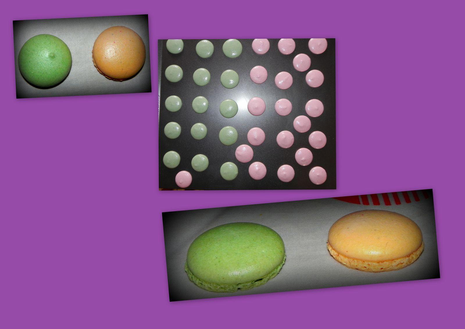 macarons pain d'épices /ganache chocolat
