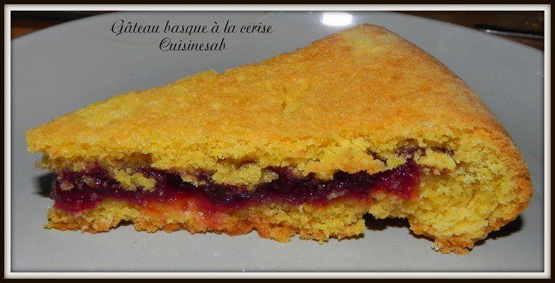 Gâteau basque  aux cerises