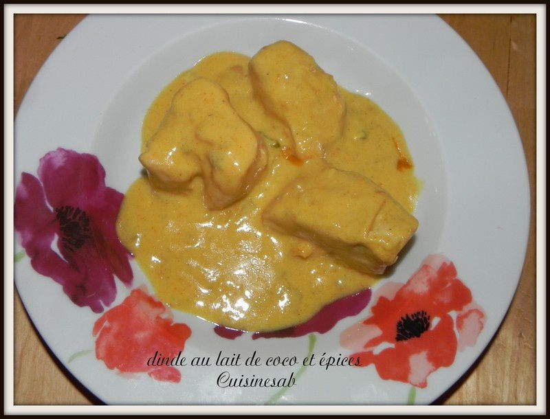 dinde lait de coco curry