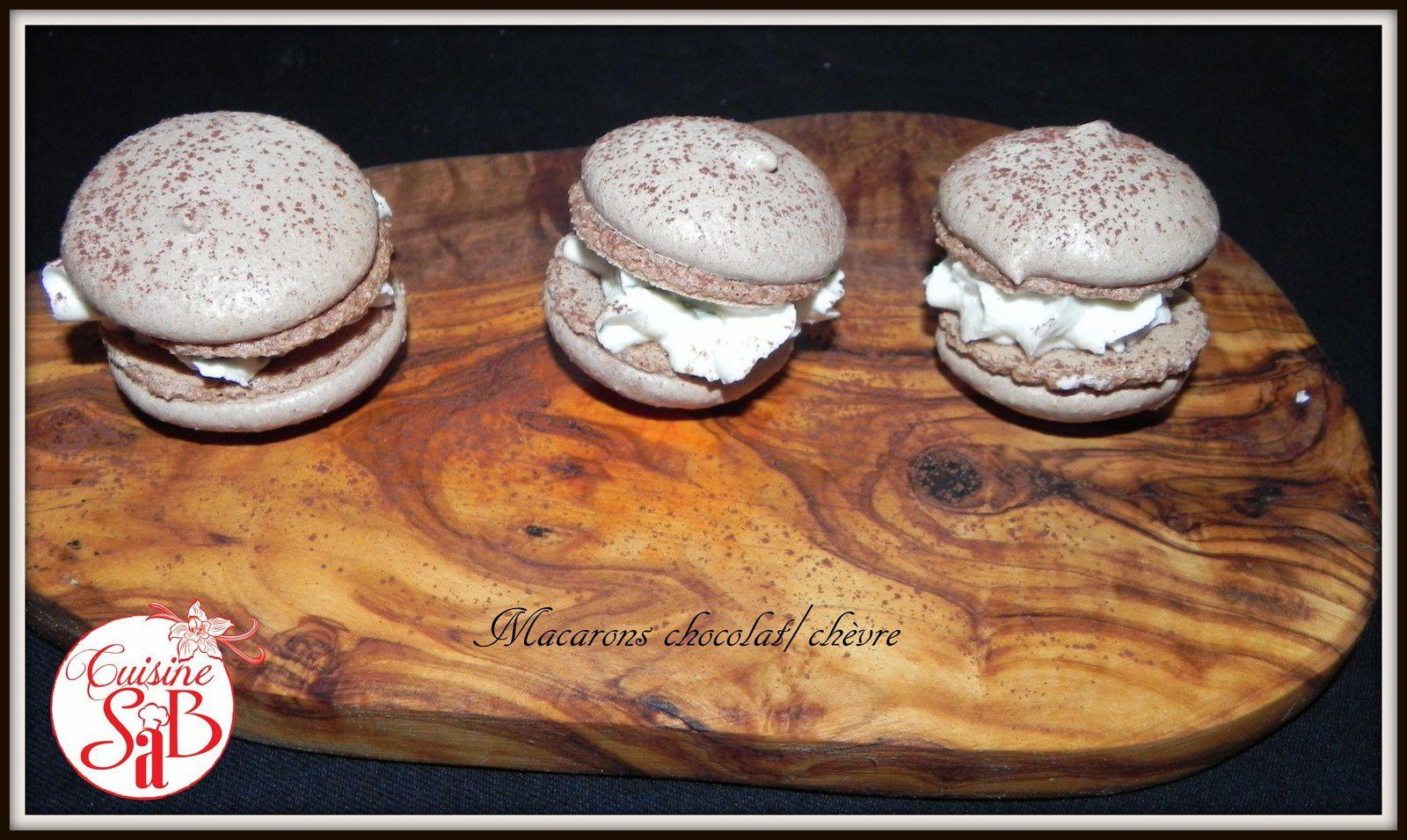 Macarons chocolat/chèvre