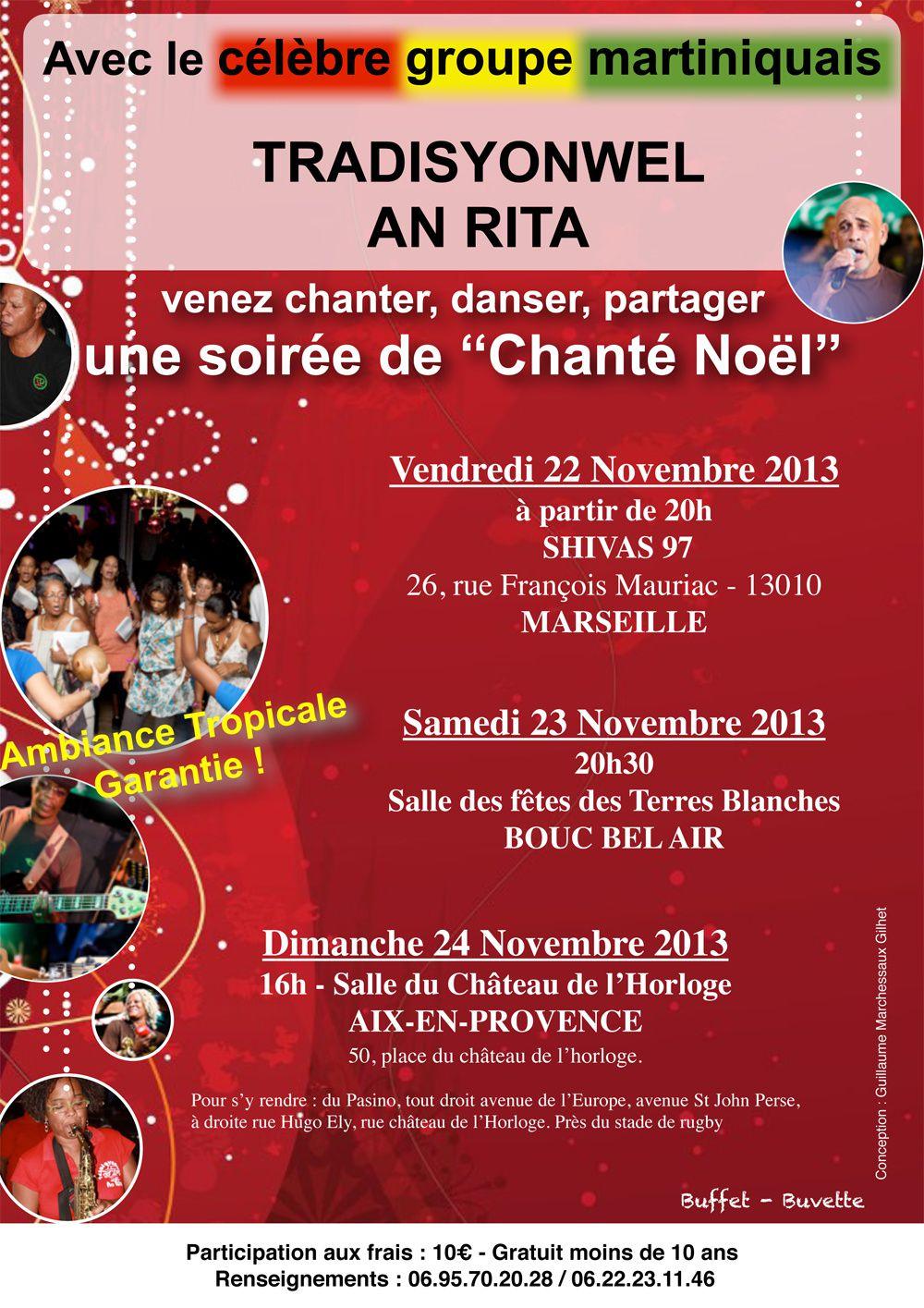 Du 20 au 27 novembre 2013 - Chanté Noël - Aix en Provence, Bouc en bel Air et Marseille
