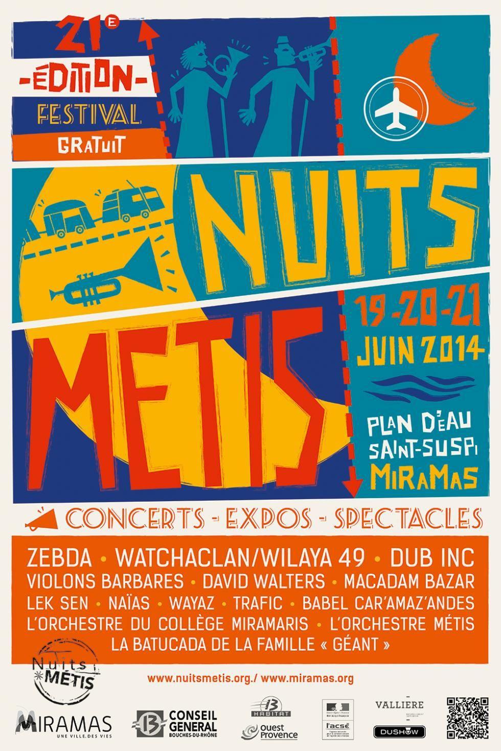 Du 19 au 21/06/14 - Festival Nuits Métis - Miramas