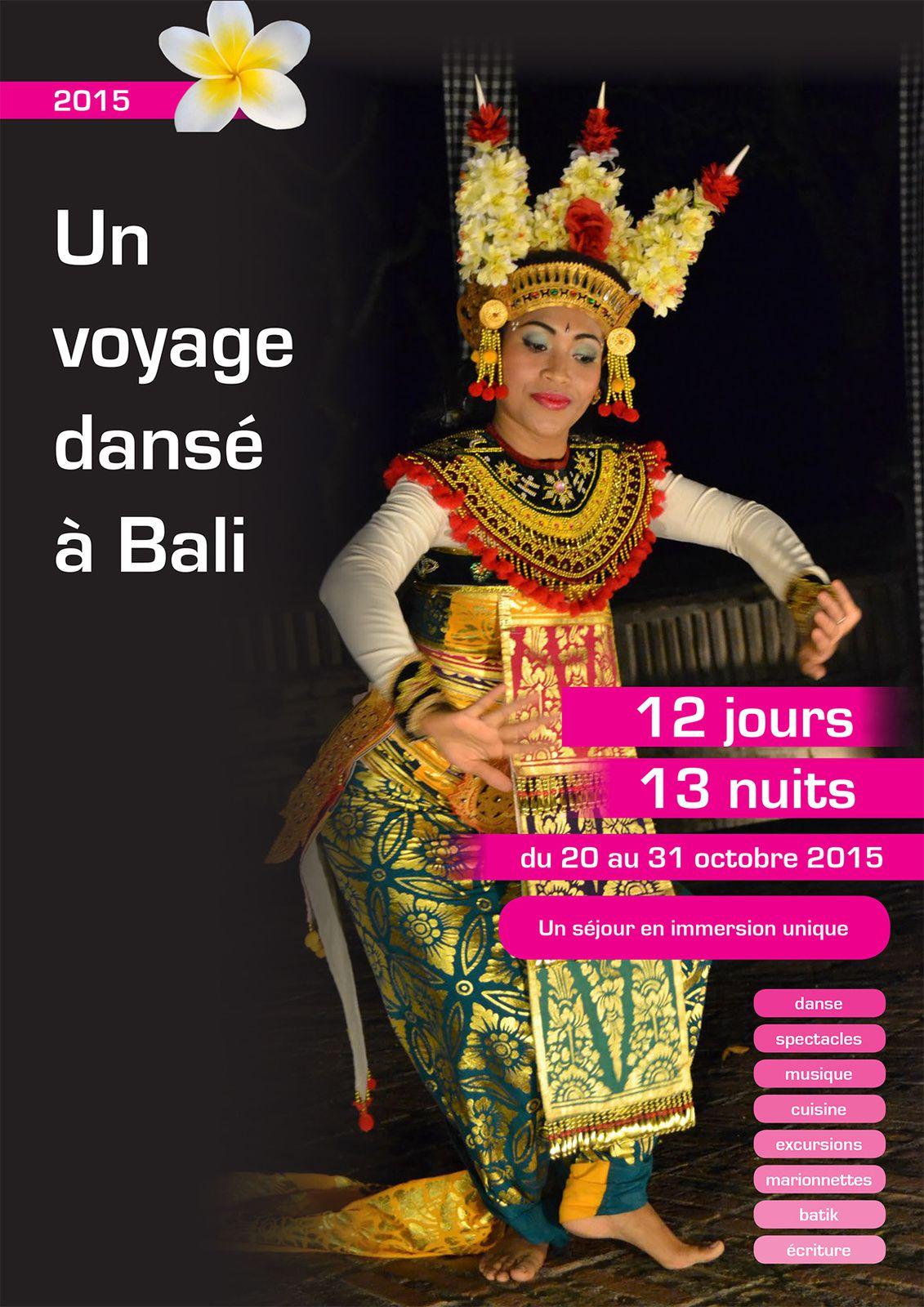 Du 20 au 31/10/15 - Voyage dansé à Bali