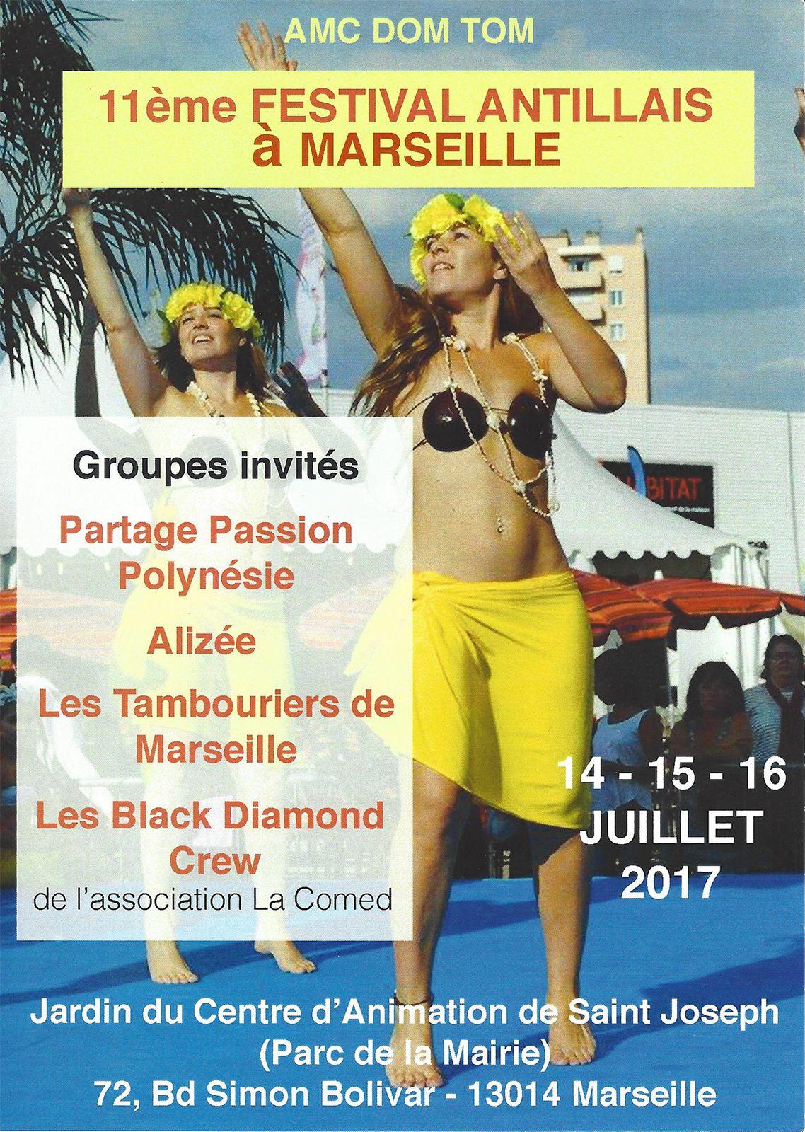 Du 14 au 16/07/17 - Festival Antillais - Marseille
