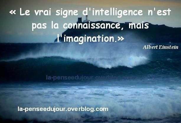 L Imagination Base De L Intelligence La Pensée Du Jour