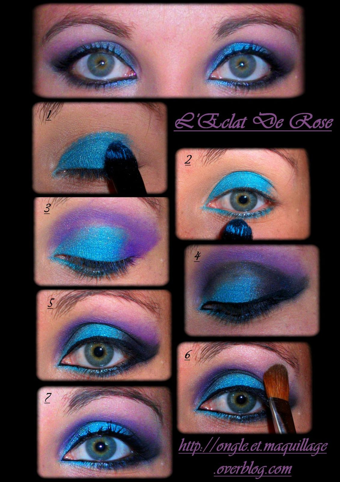 Tuto maquillage turquoise - Tuto maquillage debutant ...