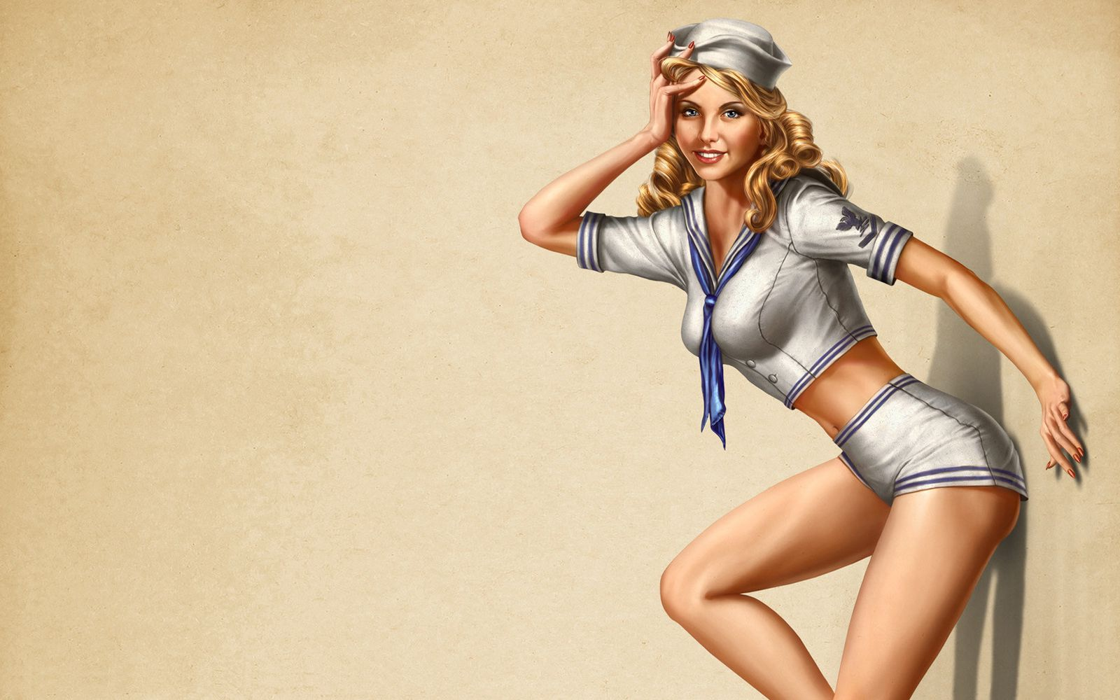 Sexy sailor woman