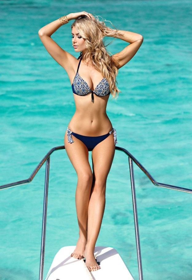 Woman are very hot on yacht