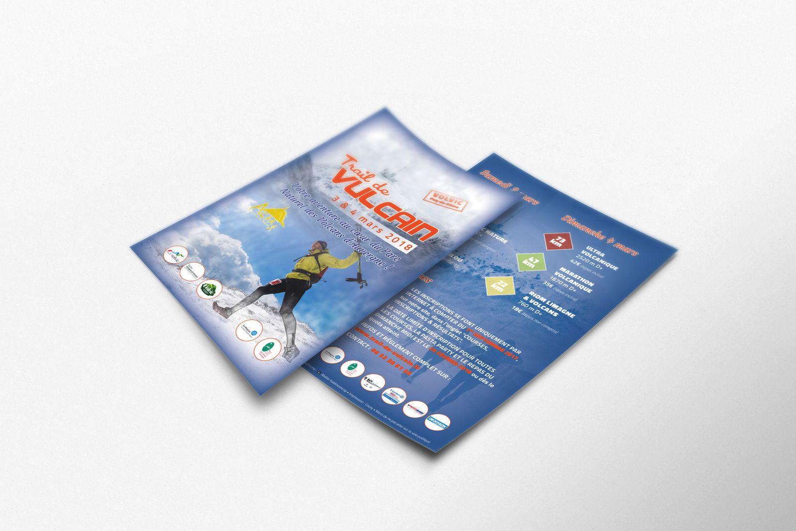 Création du flyer A5 et affiche du prochain Trail de Vulcain